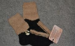 Rudos kojinės su sagomis-PARDUOTA