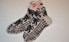 Raštuotos alpakų vilnos kojinės