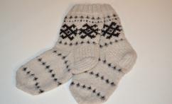 Alpakos vilnos raštuotos kojinės