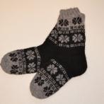 Alpakos vilnos kojinės su ornamentais