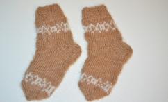 Raštuotos kojinytės iš alpakos vilnos