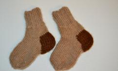 Storos kojinytės kūdikiui iš alpakos vilnos