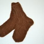 Rudos kojinės iš alpakos vilnos