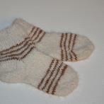 Dryžuotos alpakos vilnos kojinytės