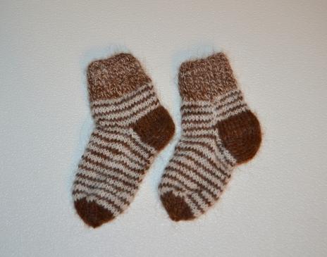 Margos alpakos vilnos kojinytės