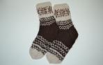 Storos kojinės iš alpakos vilnos
