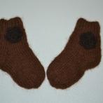"""Alpakos vilnos kojinytės """"Gėlytės"""""""