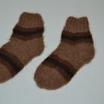 Alpakos vilnos kojinytės su dryžiukais