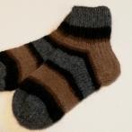 Dryžuotos kojinės vaikams iš alpakos vilnos