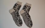 Raštuotos, alpakos vilnos kojinės