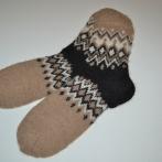 Trispalvės kojinės iš alpakos vilnos