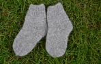 Pilkos alpakos vilnos kojinės