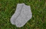 Pilkos alpakos vilnos kojinytės