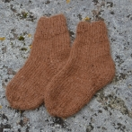 Rudos alpakos vilnos kojinytės