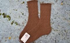 Ilgos raštuotos alpakos vilnos kojinės