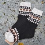 """Alpakos vilnos kojinės """"Širdelės"""""""