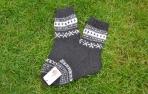 Margos alpakos vilnos kojinės