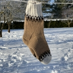 Alpakos vilnos kojinės
