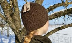 Alpakos vilnos kepurė